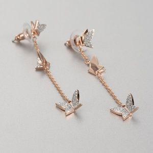 Swarovski Lilia Pierced Earrings Rose-Gold Tone